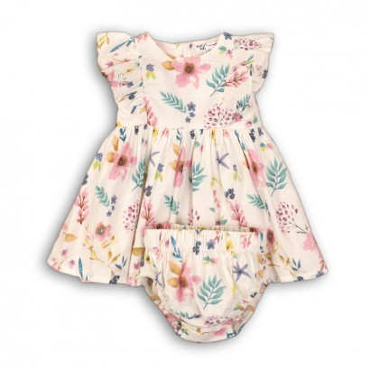 Baby Ruffle Detail Dress with Bloomers Babaluno