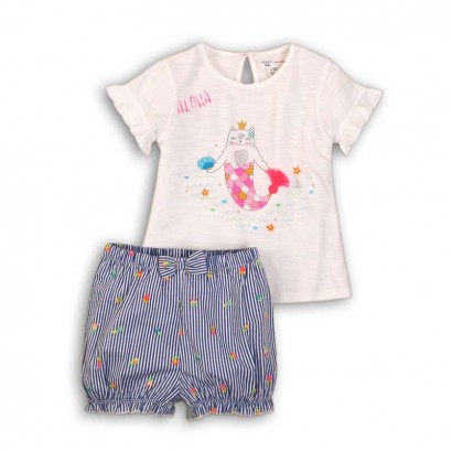 Baby Girls Shorts Set Aloha Babaluno