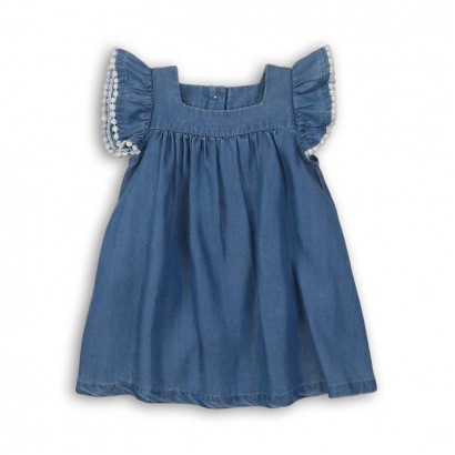 Baby Dress with Picot Stitch Detail Babaluno