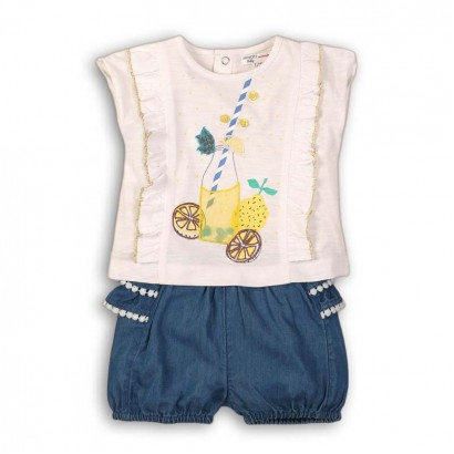 Baby Girls Set of Tee and Shorts Babaluno