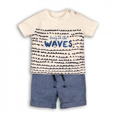 Baby Boys 'Bring on' Tee and Shorts Set Babaluno