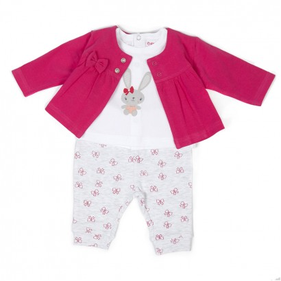 Baby Girls 3-Piece Outfit Set Babybol