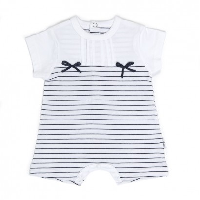 Baby Girl Striped Romper Babybol