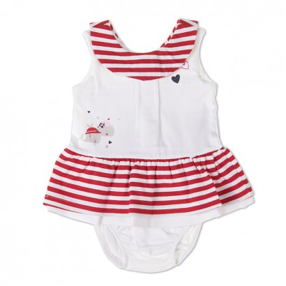 Baby Striped Dress with Bloomers Babybol