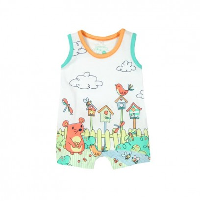 Baby's overalls Boboli with a colored print
