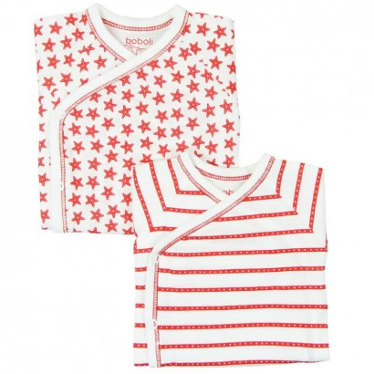 Set of baby bodysuits with short sleeve Boboli
