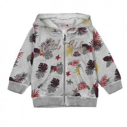 "Boys Hooded Sweatshirt 'Wild Life"" Boboli"