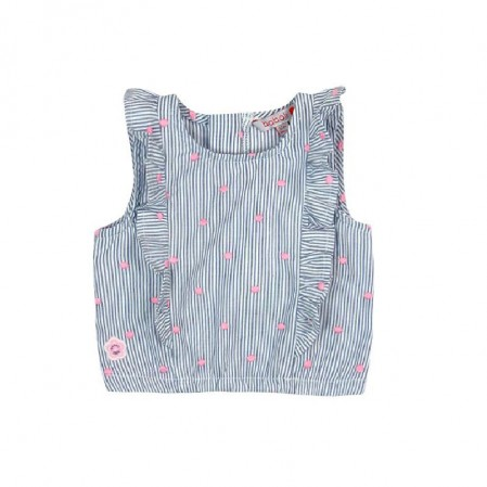 Girls Striped Sleeveless Top Boboli