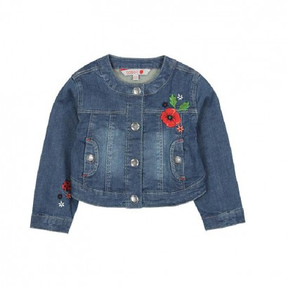 Girls Embroidered Jean Jacket Boboli