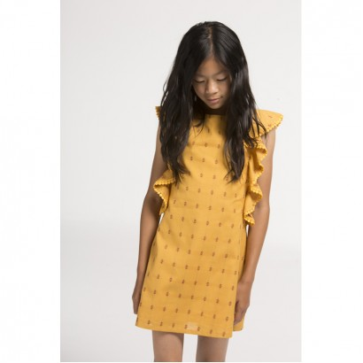 Girls Ruffled Sleeve Dress Boboli