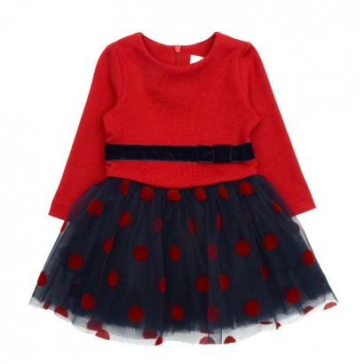 Baby Splice Tulle Dress Contrast