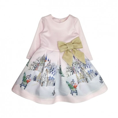 Baby Girls Winter Tales Dress Contrast