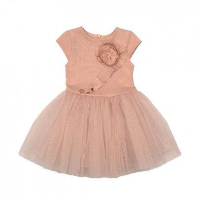 Baby Splicing Tulle Dress Contrast