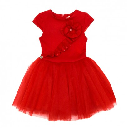 Splicing Tulle Dress for Kids