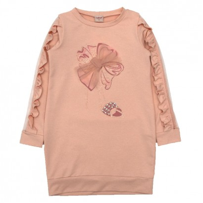 Kids Dress with Tulle Detail Contrast