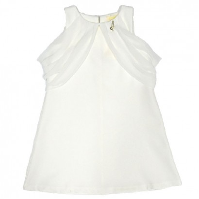 Kids Chiffon Adorned Dresses Contrast