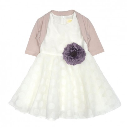 Kids Dress and Bolero Set Contrast