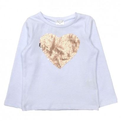 Applique T-shirt for Girls Contrast