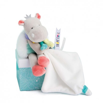 Plush Baby Toy Hippo Doudou et Compagnie