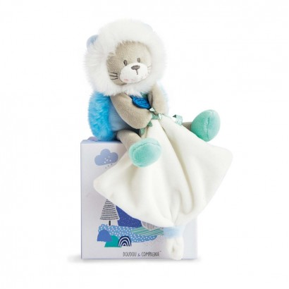 Baby Plush Lion toy with Handkerchief Doudou et Compagnie