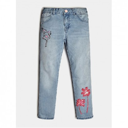 Girls Embroidered Jeans Guess Kids