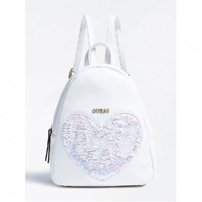 Girls Heart Applique Backpack Guess