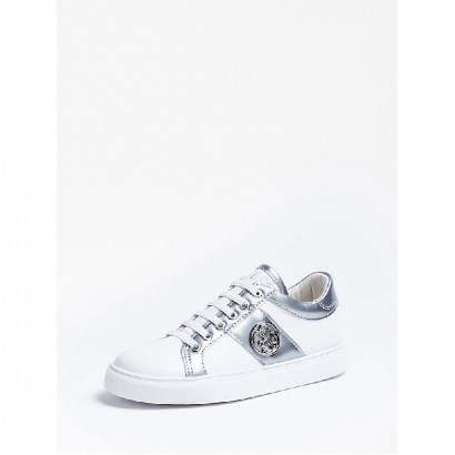 Girls Canvas Trainers Guess Kids