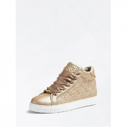 Girls Embossed High-top Trainers Guess Kids