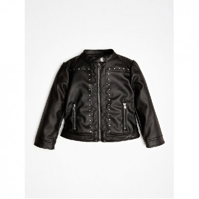 Girls Leather Jacket Guess Kids