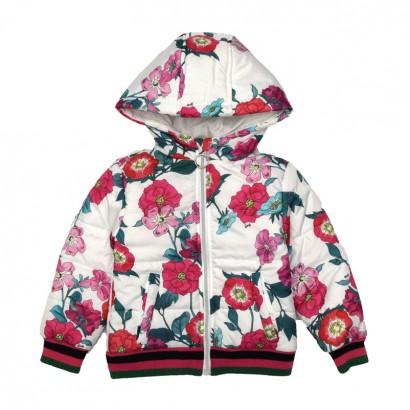Girls Hooded Red Jacket Guess Kids