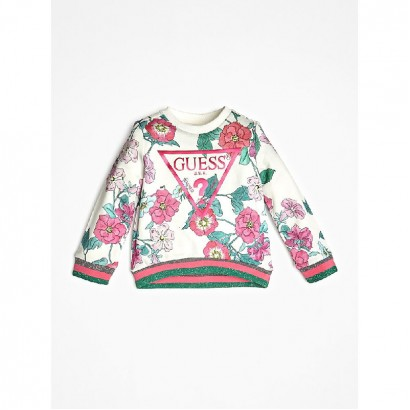Girls Floral Printed Jumper Guess Kids