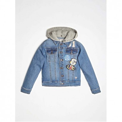 Boys Hooded Jean Jacket Guess Kids