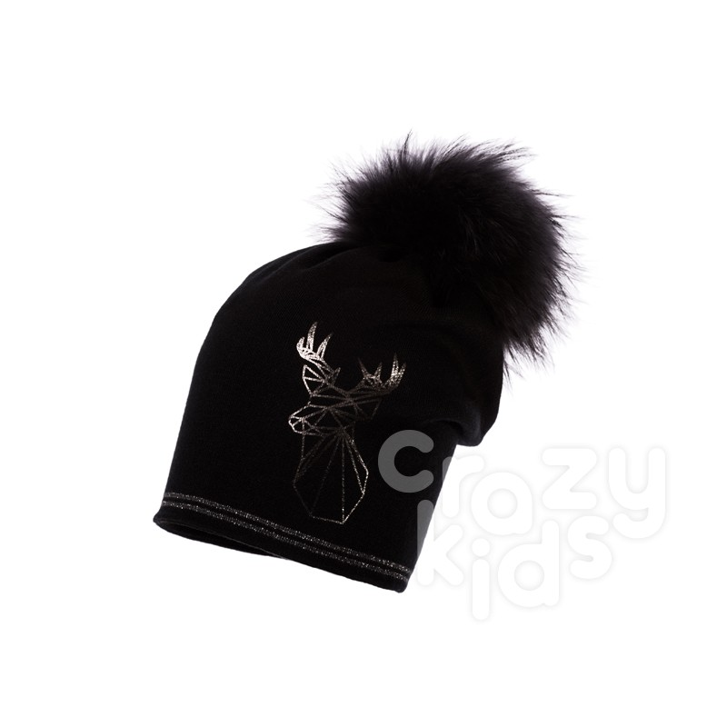 ... Girls Diorella Knitted Hat with Pom pom Racoon Jamiks 63b16e67cc80