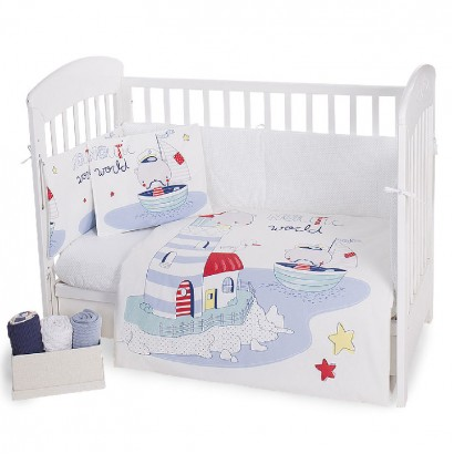 Kikka Boo Baby Bedding Set 6-Piece Nautic 70/140