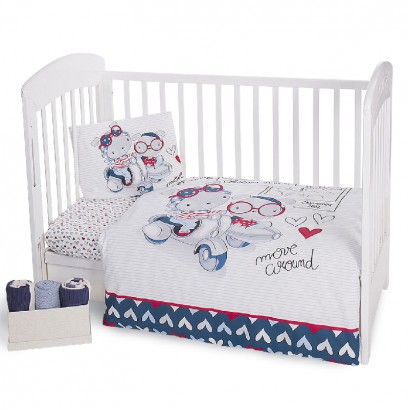 Kikka Boo Baby Bedding Set 5 Piece Love Rome