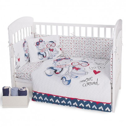 Kikka Boo Baby Bedding Set 6 Piece Love Rome 70x140