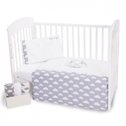 Kikka Boo Baby Embroidered Bedding Set 3-Piece Little Angel