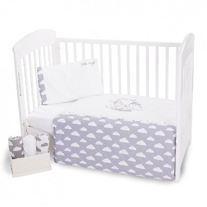 Kikka Boo Baby Embroidered Bedding Set 5-Piece Little Angel