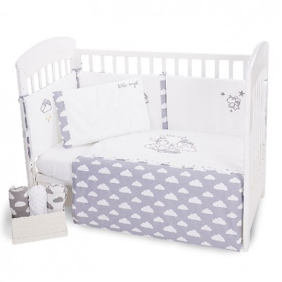 Kikka boo Baby Embroidered Bedding Set 6 Pieces Little Angel 70x140cm