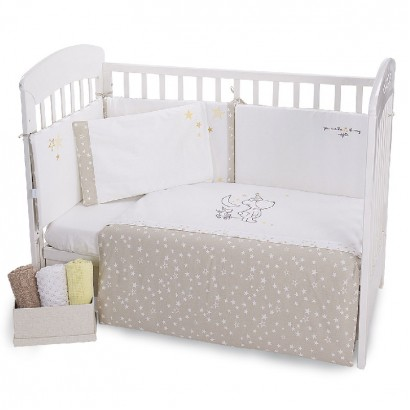 Kikka boo Baby Embroidered Bedding Set 6 Pieces Little Dreamer 60x120cm