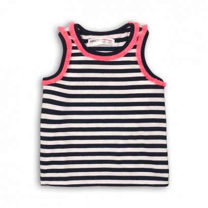 Girls Striped Vest Top Minoti