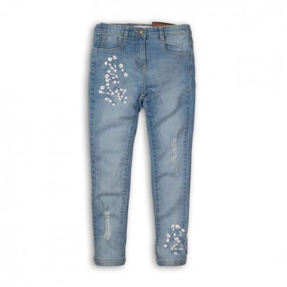 Girls Embroidered Kids Jeans Minoti