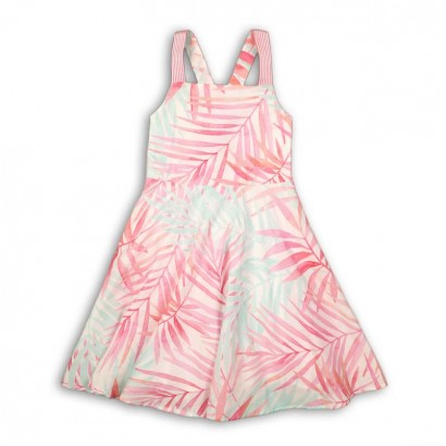 Kids Open Cross Back Dress Minoti