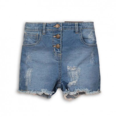 Girls High Waist Jean Shorts Minoti