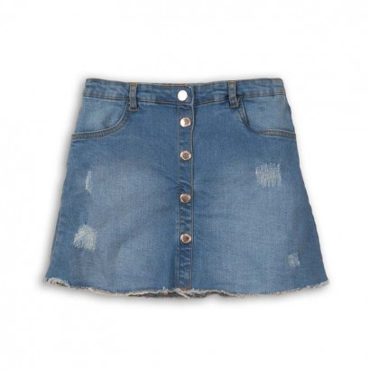 Girls Jean Skirt Minoti