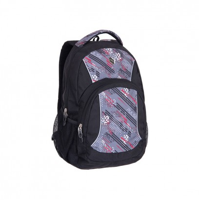 Pulse Boys Backpack Fever gray-red