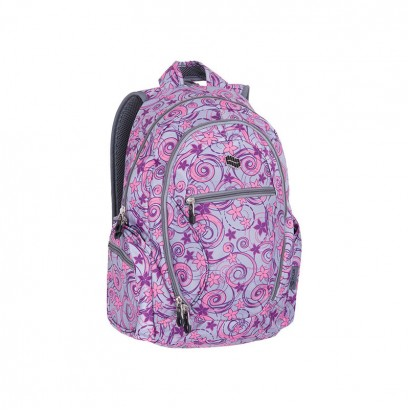Pulse Girls Backpack Dobby Gray flower