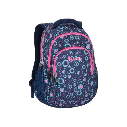 Pulse Girls Backpack Teens Jeans Flower
