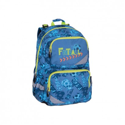 Pulse Boys Backpack Anatomic XL Blue football
