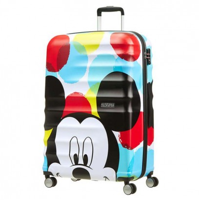 Samsonite 4-Wheel Spinner 77cm Wavebreaker Mickey Close Up АТ